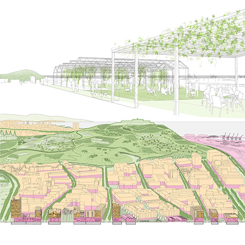 <p>Self-sufficient neighbourhood and social housing</p>